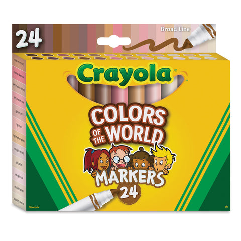 Crayola Colors of The World 24 Markers