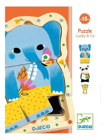 Djeco Wooden Puzzles Lucky & Co