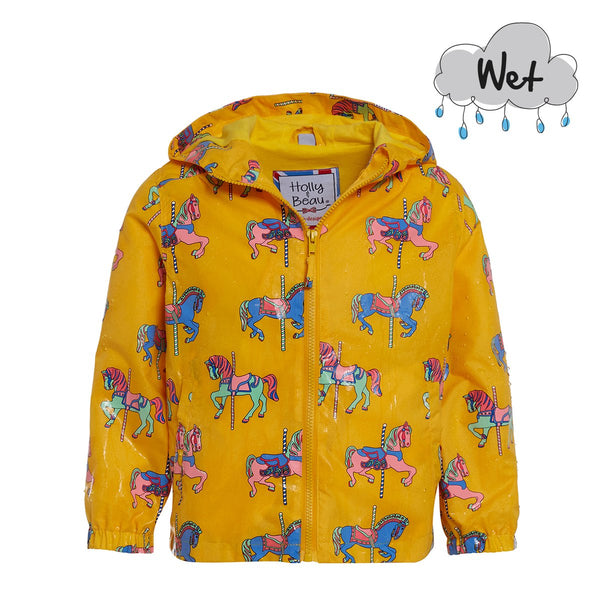 Holly & Beau Carousel Horse Color Changing Raincoat