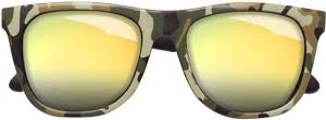 Baby Green Camo Sunglasses