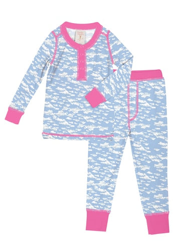 Munki munki Clouds Kids Long Johns Pj Set