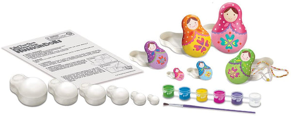 4M Paint Your Own Trinket Box Russian Dolls