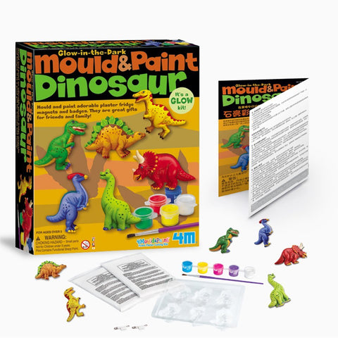 4M Glow In the Dark Mould & Paint - Dinosaur