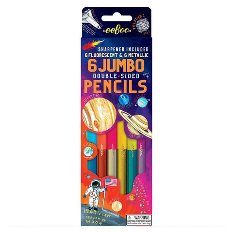 Eeboo Solar System 6 Jumbo Double Sided Color Pencils