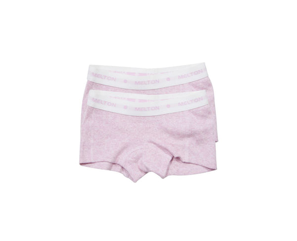 Melton 2-pack Rib Girl Shorts