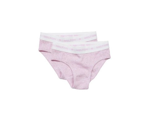 Melton 2-pack Blush Rose Numbers Rib Brief