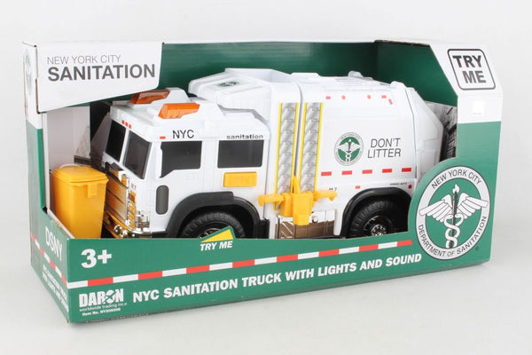 Daron NYC Sanitation Garbage Truck With Lights and Sound
