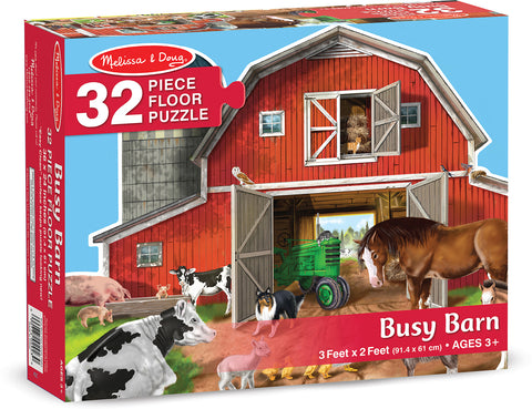 Busy Barn Yard Shaped Floor Puzzle 32 pieces