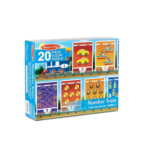 Melissa & Doug Number Train Floor Puzzle-20 pieces