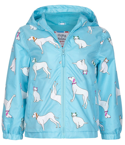 Holly & Beau Cats and Dogs Color Changing Raincoat