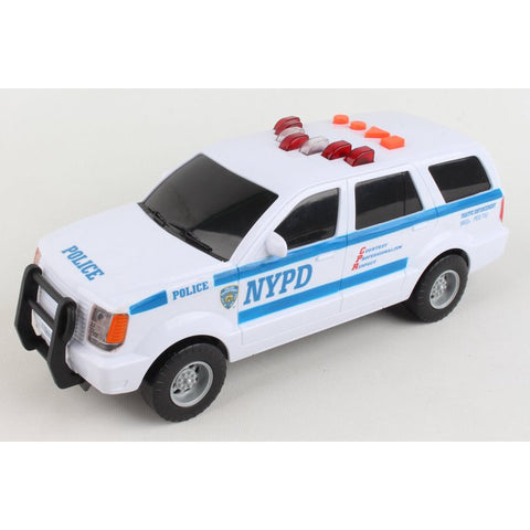 Daron NYPD Motorized Police Vehicle with Lights and Sound Action
