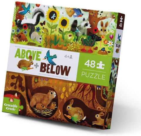 Crocodile Creek 48pc Above & Below Backyard Discovery Puzzle