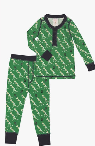Munki munki T-Rex Kids Long Johns PJ Set