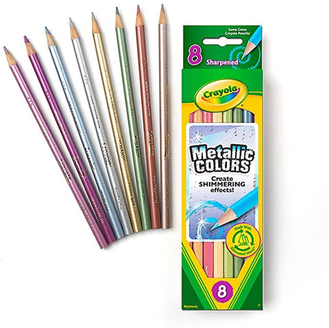 Crayola Metallic Color Pencils (8)