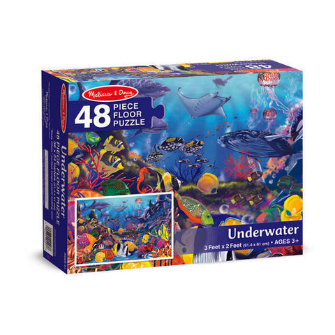 Melissa & Doug Under Water Floor Puzzle 48 pieces