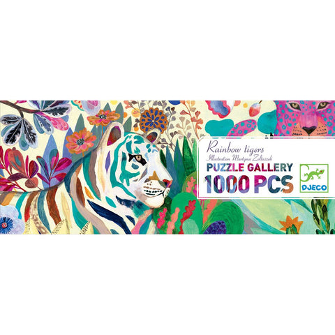 Djeco Rainbow Tiger Puzzle Gallery 1000 pieces