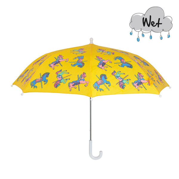 Holly & Beau Carousel Horse Color Changing Umbrella