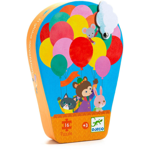 Djeco Silhouette The Hot Air Balloon 16 Piece Puzzle