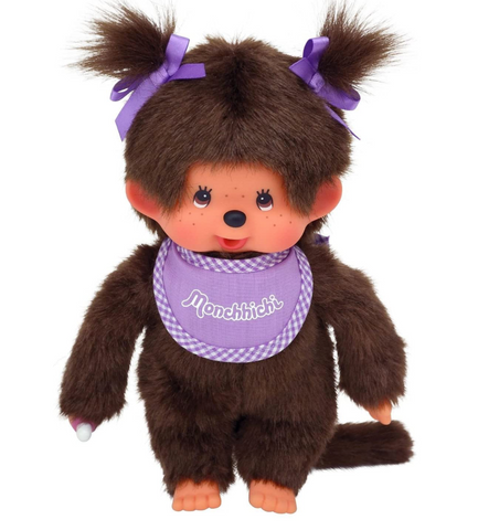 Monchhichi Girl Purple bib