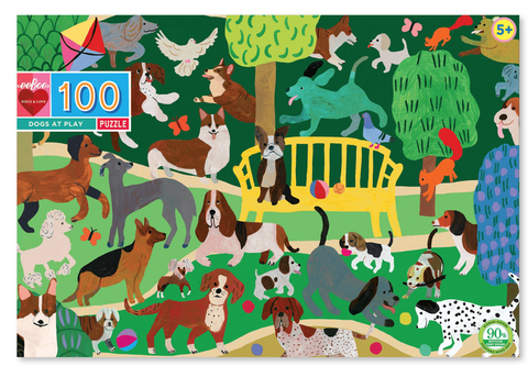 eeboo dogs at play puzzle 100 pieces