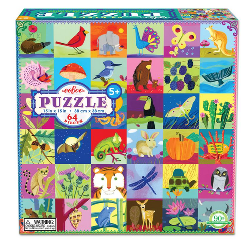 eeboo Portraits of nature puzzle 64 pieces
