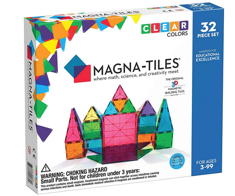 Magnatiles 32 pieces clear colors