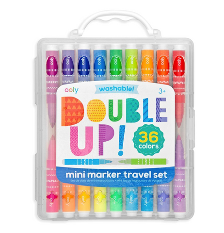 ooly double up 36 mini markers  washable