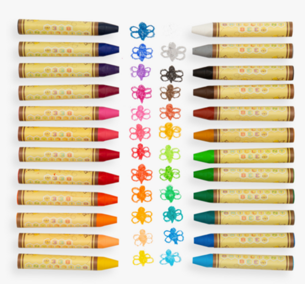 ooly 24 brilliant bee crayons