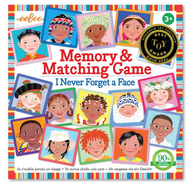 eeboo memory game I never forget a face