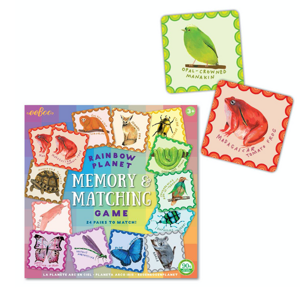 eeboo memory game rainbow planet