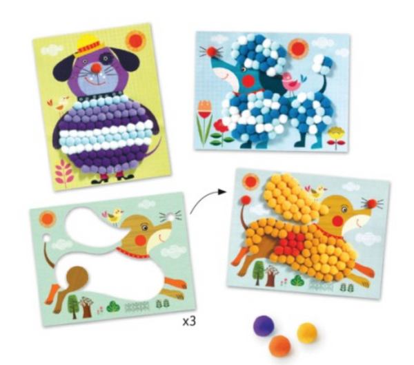 Djeco Pompom pictures kit