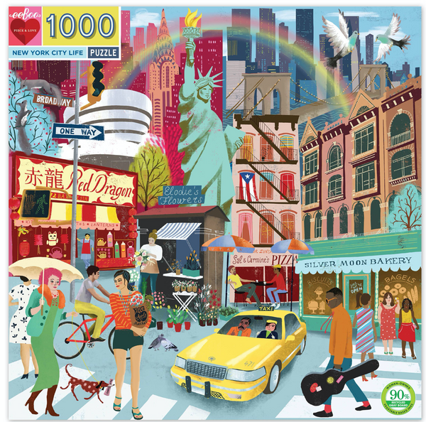 Eeboo New York City Life Puzzle 1000 pc