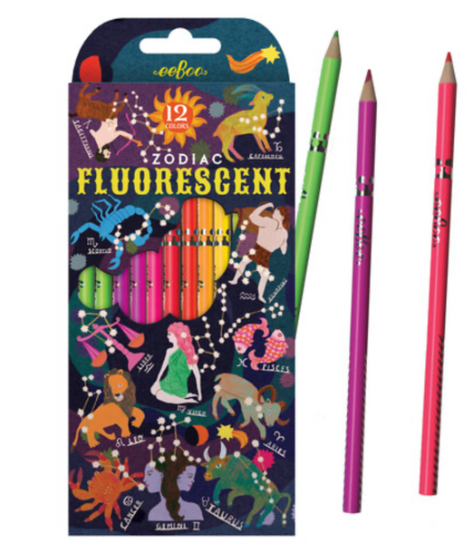 eeboo fluorescent Zodiac pencils (6)