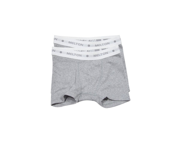 Melton 2-pack Light Grey Boxer Shorts