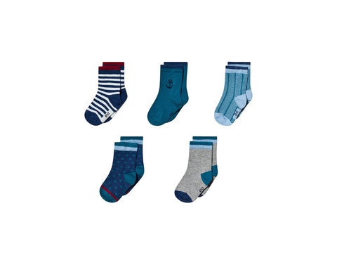Melton Dark Marine Socks 5-Pack
