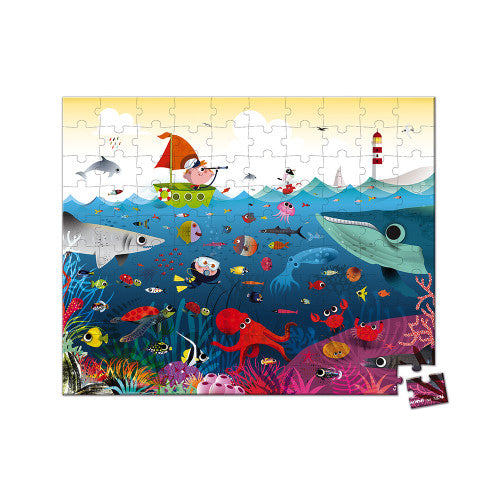 Janod Underwater World 100 Piece Puzzle
