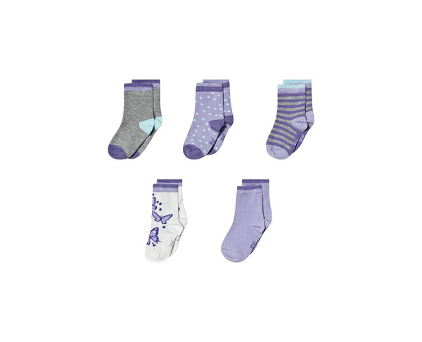Melton Cloud Lilac Socks 5-Pack
