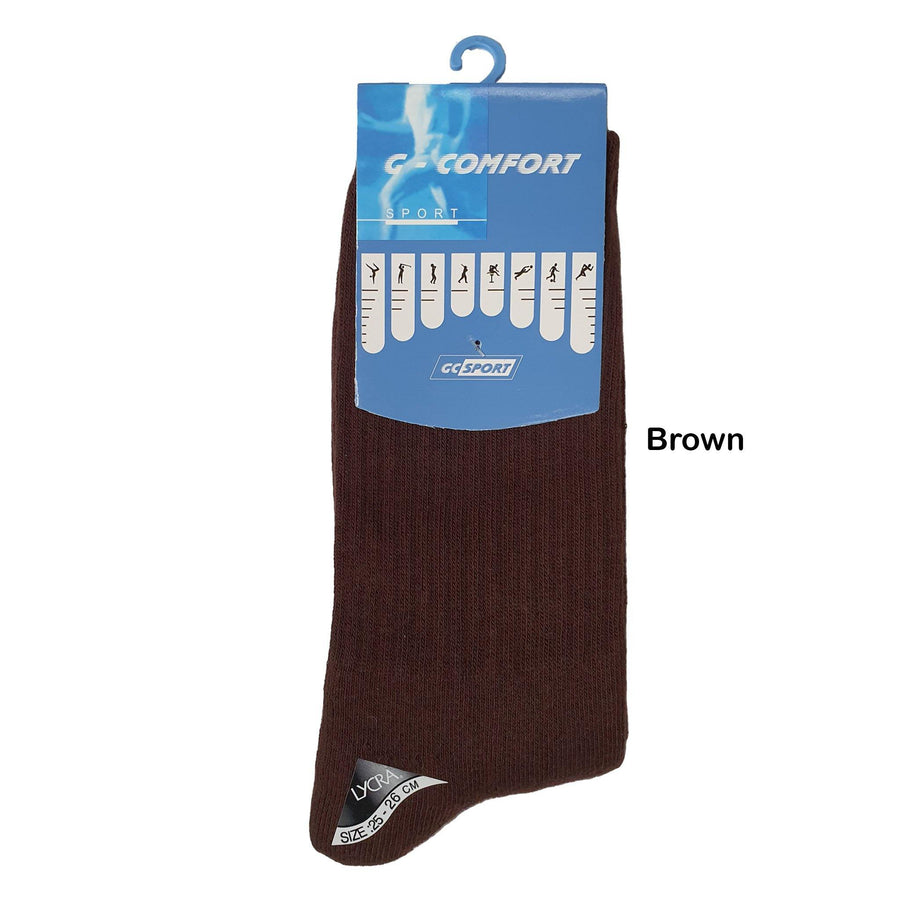 GC 18806 Full Base Cushion Sport Socks / Thick Mid Calf Cotton Socks - Kawata House of Socks