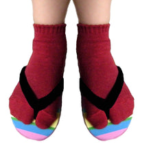 Load image into Gallery viewer, Two Toe Ankle Socks - Kawata House of Socks