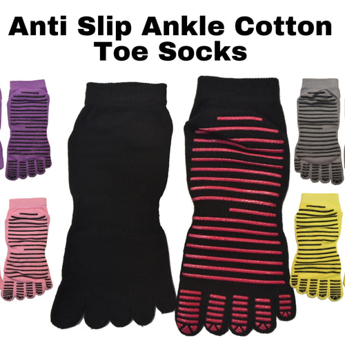 Five Toes Ankle Anti Slip Socks - Kawata House of Socks