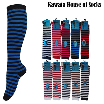Stripes Cotton Knee High Socks - Kawata House of Socks
