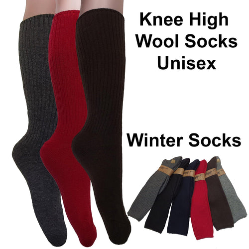 Knee High Wool Socks (unisex) / Winter Socks - Kawata House of Socks