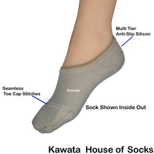 Load image into Gallery viewer, Bamboo Loafer Socks/No-Show Socks with Non-Slip Inner Heel - Kawata House of Socks