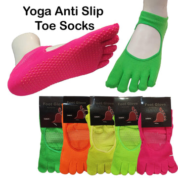 Yoga Anti Slip Toe Socks - Kawata House of Socks