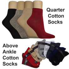 Load image into Gallery viewer, Quarter Cotton Socks - Kawata House of Socks