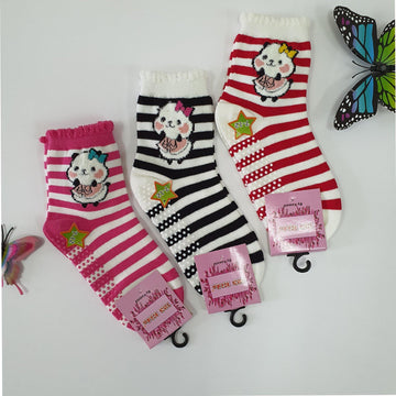 Anti Slip Panda Quarter Socks - Kawata House of Socks