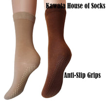 Load image into Gallery viewer, Ladies Anti-Slip Mid Calf Cotton Socks