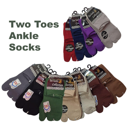 Two Toe Ankle Socks - Kawata House of Socks