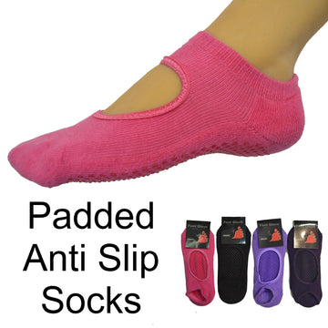 Yoga Padded Anti Slip Socks - Kawata House of Socks