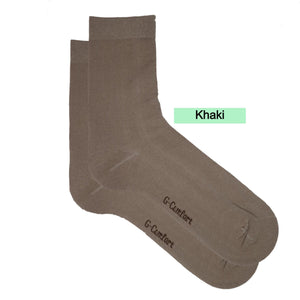 Thin Mid Calf Plain Socks - Kawata House of Socks